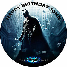 BATMAN BIRTHDAY CAKE ROUND EDIBLE PRINTED BIRTHDAY CAKE TOPPER DECORATION