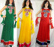 Ladies Anarkali Designer Suit Indian Punjabi Wedding Party Asian Pakistani Dress