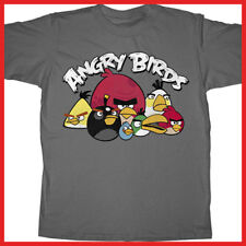 Angry Birds Kids T-Shirt: Grumbles Gray 4Size-Licensed