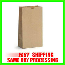 Brown Paper Snack Lunch Sandwich Small Shopping Grocery Candy Treat Bags Sacks