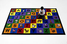 6'x9' & 7'x11'Charlie &Friends Educational Area Rug School Daycare Kids Room New