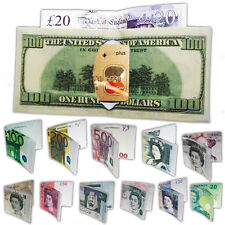 Mens Boys Designer Currency Notes Pound Dollar Wallet Purse