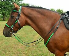 **HORSE Size* ANY 2 COLOR COMBO Quick Change HALTER BRIDLE & BREAST COLLAR