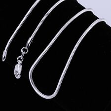 """Wholesale 10pcs 2mm Silver Plated Snake Chain Necklace 16""""-24"""",Pick Your Length!"""