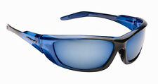 Mens Designer Wrap Around Visor Sports Biker Ski Leisure Blue Sunglasses Shades