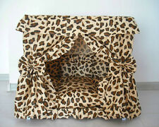 Charm Princess Pet Dog Cat Handmade Bed House Leopard Print