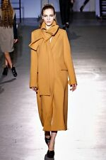 3.1 Phillip Lim Single Breasted Long Coat Jacket with Scarf Collar Camel