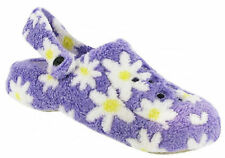 Ladies Bedroom Slippers Mule Clogs Lilac Soft Cloggs Divaz Womens Slip On New