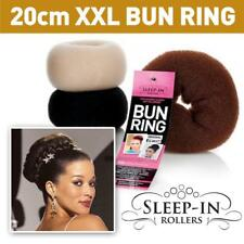 HAIR BUN  DONUT by Sleep in Rollers  XL 15CM OR  XXL 20CM  BROWN  BLACK  BLONDE