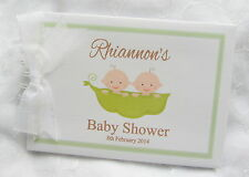 PERSONALISED *TWO PEAS IN A POD  BABY SHOWER  PHOTO SCRAPBOOK ALBUM /GUEST BOOK