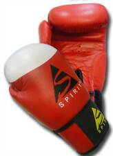 SPIRIT SPORTS 10oz Target Cowhide Leather Boxing Gloves Red or Blue Hand Moulded