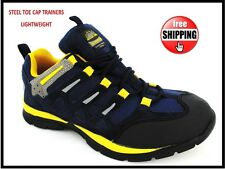 NEW SAFETY TRAINERS LIGHTWEIGHT NEW STEEL TOE CAP WORK BOOTS SHOES UK SIZE 7-11
