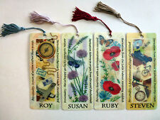 History & Heraldry 3D Personalised Bookmarks - Names: R - S