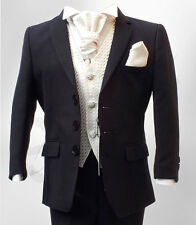 UK BOYS FORMAL 4PC NAVY BLUE & IVORY SUIT PAGEBOY WEDDING COMMUNION PROM SUIT