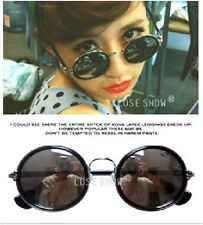 Fashion Womens Mens Unisex Retro Vintage Large Big Round Style Sunglasses 70S