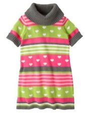 GYMBOREE LOVEABLE GIRAFFE STRIPE N HEART COWL NECK SWEATER DRESS 5 6 10 12 NWT