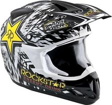 Answer Youth MX ATV Offroad Comet Rockstar Energy Helmet Black / White