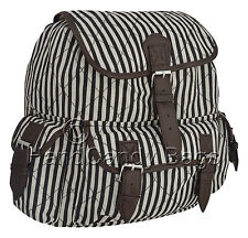 Fashion printed canvas backpack festival must-have in floral, horse or stripes