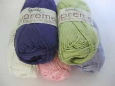 Wendy Supreme Cotton 4ply 100g VARIOUS SHADES pure mercerised cotton