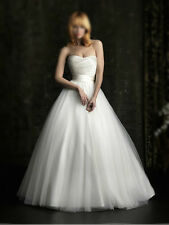 New A-line Strapless Bridal Gown Sweetheart Wedding Dress Size 6-8-10-12-14-16