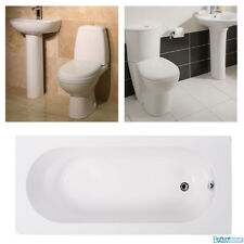 Bathroom Suite Single Ended Bath Toilet WC Basin Wash Sink Modern Complete Suite