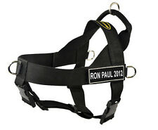 No Pull Universal Dog Harness with Fun Patches RON PAUL 2012