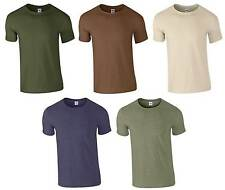 Mens Soft Cotton Military T-Shirt S-2XL 5 Colours Camouflage Camo Army Combat