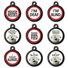 Cool Custom Personalised Pet Dog Cat Medical ID Tags For Collar - Engraved FREE