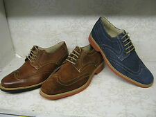 Anatomic & Co Tucano Tobacco & Navy Suede Or Cognac Leather Lace Up Brogue Shoes