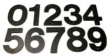 "Decorlux Solid Brass House Numbers 4"" 0 1 2 3 4 5 6 7 8 9 OIL RUBBED BRONZE NEW"