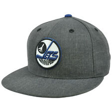 NHL Mitchell & Ness G004 Heather Wool Winnipeg Jets Fitted Hat Cap