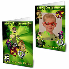 Personalised Ben 10 Birthday Card With /out Photo Any Age Name Relation Large A5
