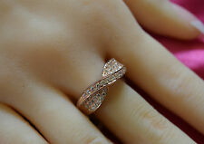 925 Sterling silver Size 7, 8 CZ Ring (Rose Gold) Engagement/wedding ring/Band.