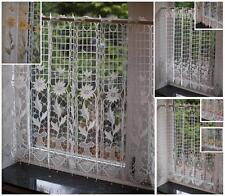 Macrame Lace Ready Made Cafe Net  Kitchen Curtain Panel  ~ 24 inch drop