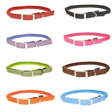 Round Soft Padded Comfortable Microfiber Durable Gentle Dog Collar(Ultra Suede)