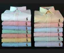 NEW POLO RALPH LAUREN WOMEN'S LONG SLEEVE  OXFORD BUTTON DOWN SLIM FIT SHIRT TOP