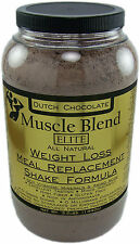 Muscle Blend, ELITE Weight Loss Meal Replacement Shake Formula 3lb All Natural