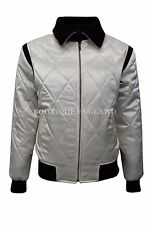 'DRIVE' SILVER SCORPION Men's SATIN BLACK & BEIGE Ryan Gosling Film Movie Jacket