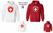 Lifeguard Hoodie, Red or White, Sizes S-2XL, Hooded Life Guard Sweatshirt