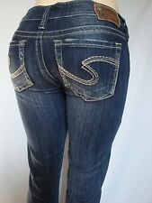 Silver Jeans TUESDAY Low-Rise Straght Fit Slim Hip Boot Cut Inseams 31 33 35