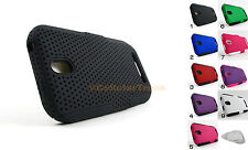 for HTC One SV Hybrid Mesh Dual Layer Hard/Soft Case Cover + Prytool