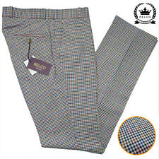 Relco Tweed Check Sta Press Style Trousers NEW Mod Skin Vtg Retro Stay Prest
