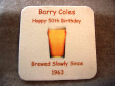 PERSONALISED BEER MAT*S 18th*21st*30th*40th*50th*60th*70th*80th*85th*Birthday