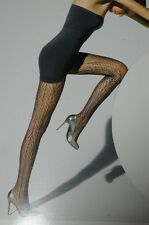 New WOLFORD SEXY PEACOCK NET Ajoure Black Tights Extra Small S Medium M Large L