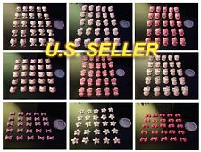 Nail Art 3D Resin Flatback Decorations Hello Kitty Designs and More - 25PCS