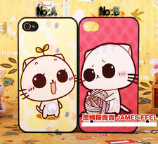 For iPhone 4 4S Fashion lovers cute cat Pattern Shell Cover Cases Skins I4_42