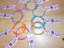 10 sets Wreck It Ralph birthday party favor bracelets with a Customizable tag