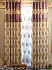 %H Customized Yarn-Dyed Jacquard Pink 85% Blockout Home Decoration Curtain