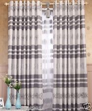%H Customized Chenille Fabric Jacquard Gray 75% Blockout Home Decor Curtain