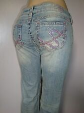 """Silver Jeans TUESDAY Boot Cut Inseams 33"""" Destroyed  60704A"""